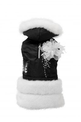 cappottino per cani Violet nero bianco - Teo I'm cool